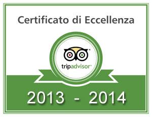 Certificato di Eccellenza Tripadvisor Trattoria al Chiostro San Bonifacio Verona