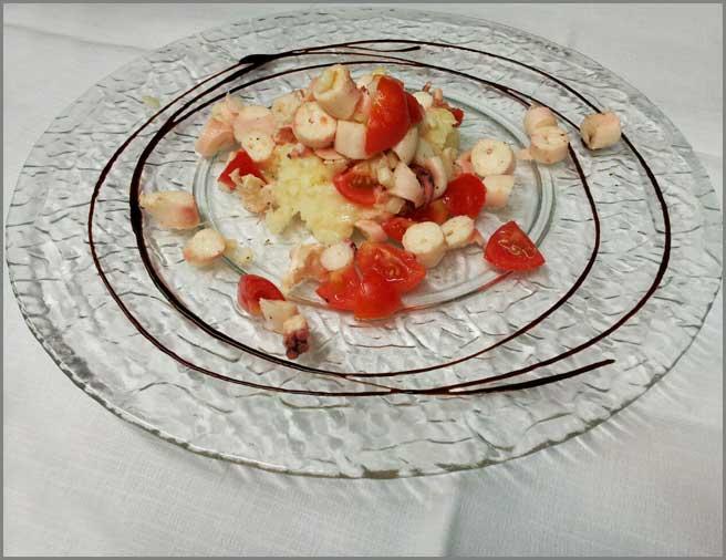 insalata-tiepida-di-polipo-secondi-di-pesce-del-ristorante-trattoria-al-chiostro-di-verona